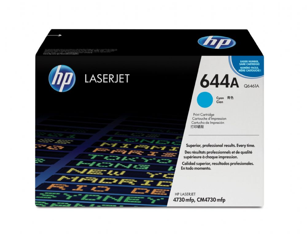 HP 644A Cyan Original Toner Cartridge (Q6461A) 12,000 pages